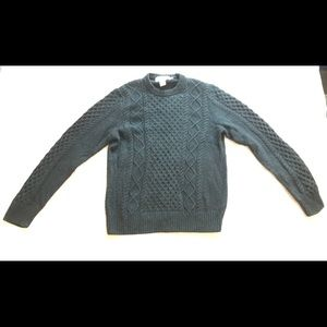 H+M L.O.G.G. Blue Cable Knit Sweater Large